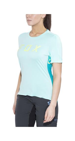 Fox Attack Koszulka kolarska, krótki rękaw Kobiety turkusowy